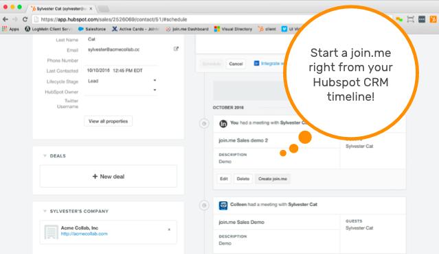 hubspot-join-me-integration